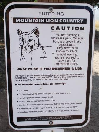 mountain-lion-warning photo