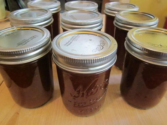 Jars of loquat jam