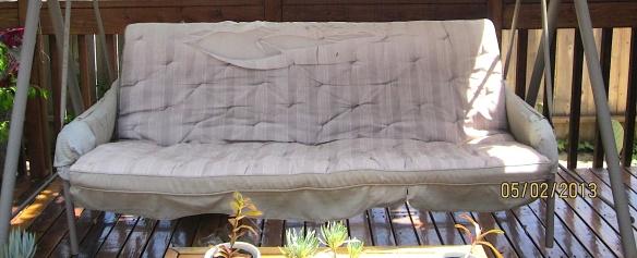torn cushion