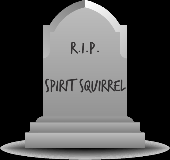 Spirit Squirrel Tombstone