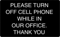 Turn Cell Phone Off sign