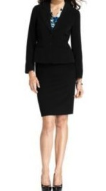 Black blazer and pencil skirt
