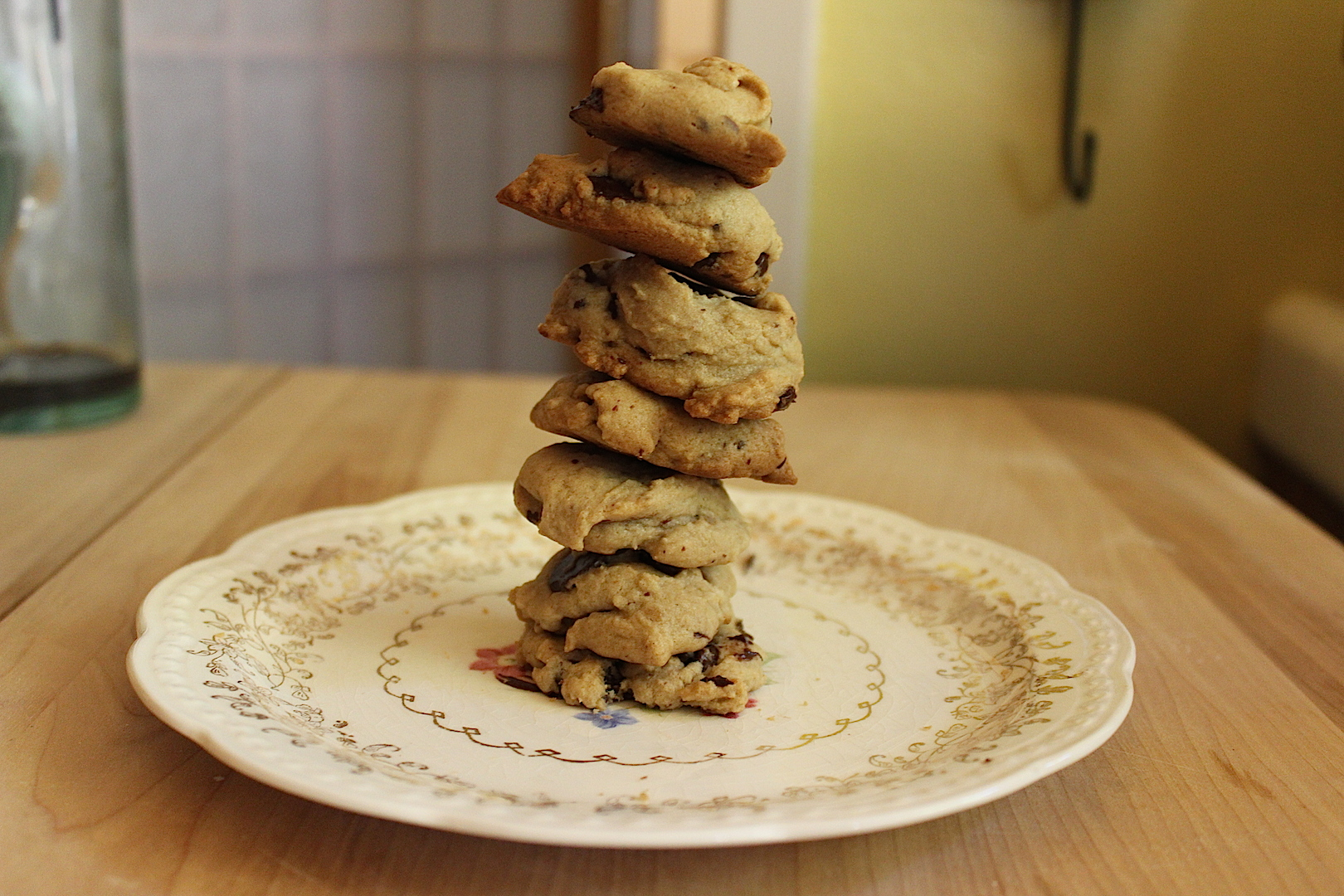 chocolate chip cookie cairn