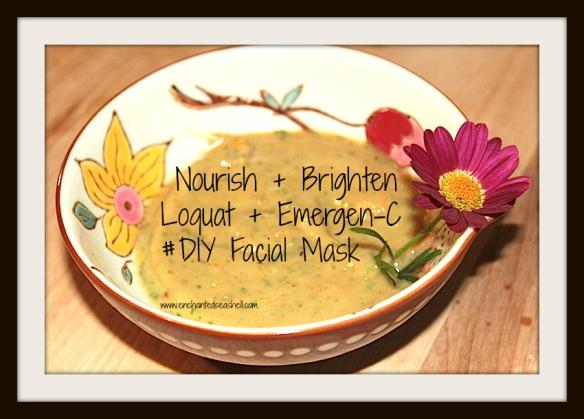 Loquat Emergen-C facial mask