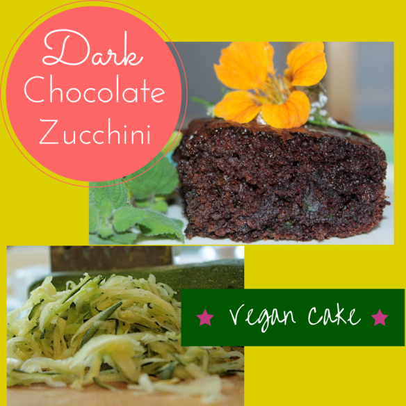 Dark Chocolate Vegan Cake www.enchantedseashells.com